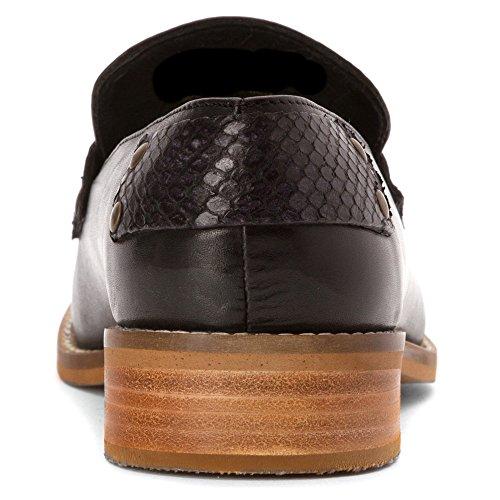 Chaussures Mocassins Natalie Hardy Femmes Noir / Noir Serpent