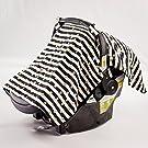 Danha Car Seat Canopy Cover (Gold dot & stripe)