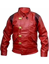 Mens Fashion Akira Kaneda Real Leather Jacket Red