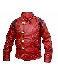 Classyak Men's Fashion Akira Kaneda Real Leather Jacket Red