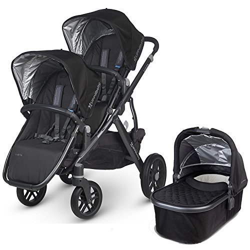 UPPAbaby 2015 Vista Stroller With Rumble Seat (Jake/Black) by UPPAbaby