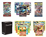 Pokemon Card Lot with EX/GX Guaranteed, 1 Booster Pack, 5 Rare Reverse Holo/Holo, 10 Common/Uncommon Cards