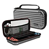 OIVO Carrying Case for Nintendo Switch, Deluxe Protective Travel Carry Case&Storage with Soft Velours Pouch for Nintendo Switch Consol & Accessories (Grey)