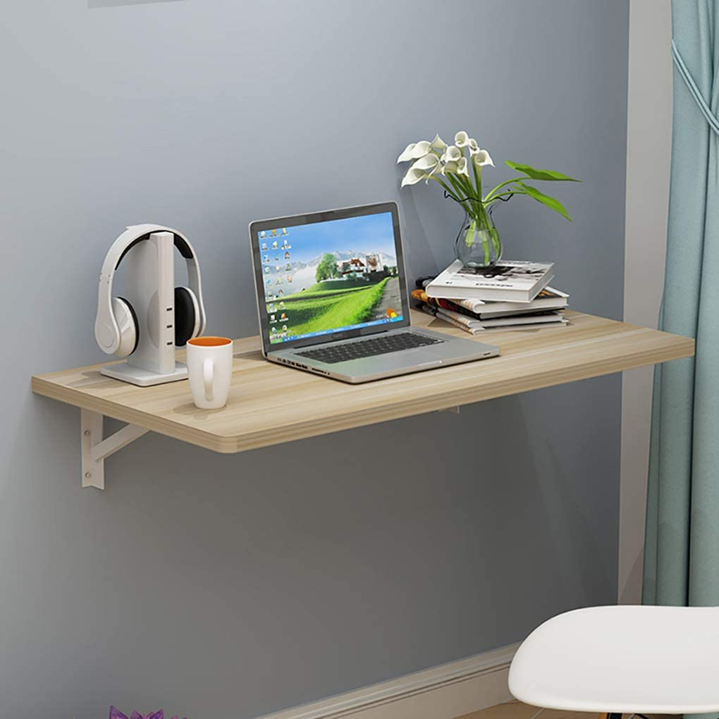 RXBFD Folding Wall Table Wall Mounted Drop Leaf Table,Kitchen Dining Table, Home Office Computer Desk Study Desk, 13 Sizes