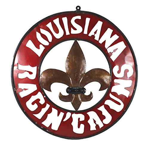 - Asian Zing Metal Louisiana Fleur De Lis Ragin Cajuns Sign