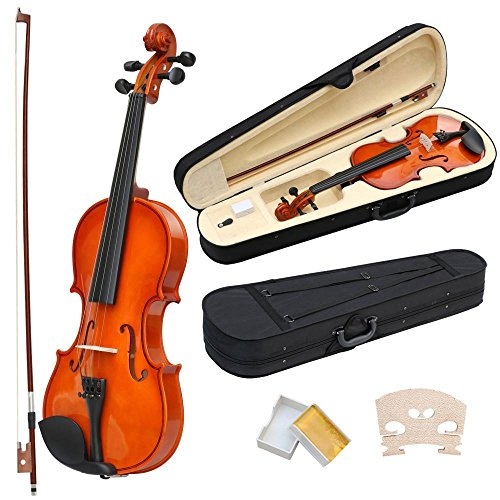Topeakmart Full Size 4/4 Acoustic Violin Set With Case, For Beginners Students And Daily Practice