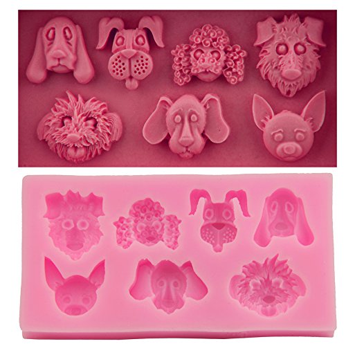 Let'S Diy Animal Heads Cake Molds Fondant Chocolate Silicone Mold Food-Grade Candy Moulds Cake -
