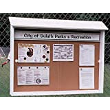 Tennis, Bocce, Golf Court Accessories - Messaging Boards - Outpost Message Center Options - Post Mounting Kit