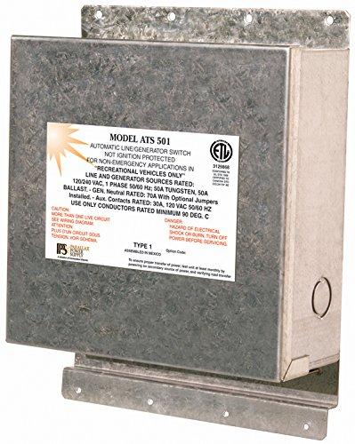 Parallax Power Supply (ATS501 120/240 Volt 50 Amp Transfer Switch by Parallax Power Supply