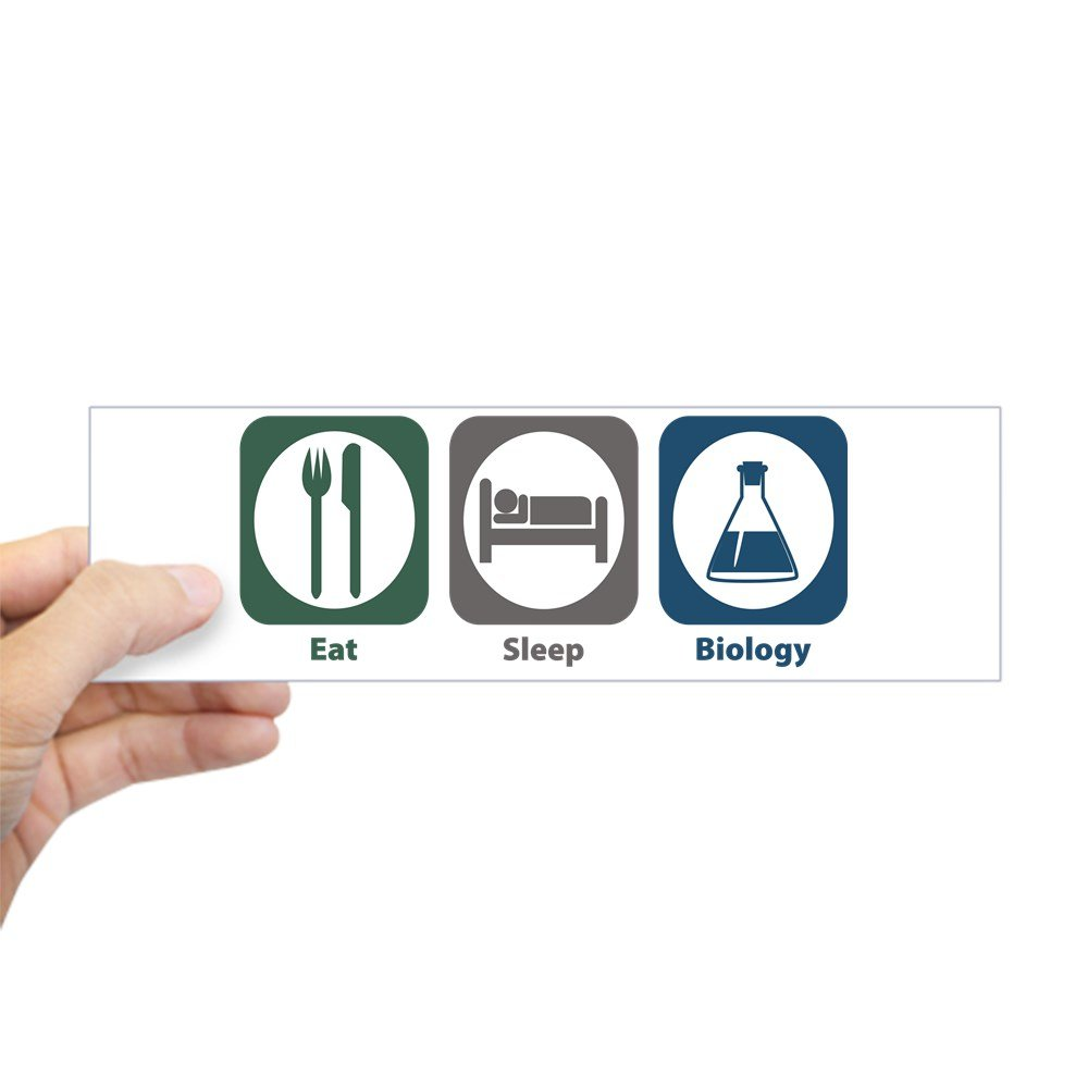 【超歓迎】 CafePress – Eat Sleep Biologyバンパーステッカー CafePress – – Eat 10