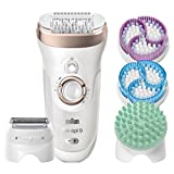 Braun Silk-Epil 9 SkinSpa 9-961v, 4-in-1 Epilators for Women, Wet and Dry Epilator, Ladies Electric...