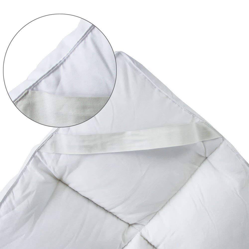 Doux Bedecor Matelas en Polyester Microfibre de Haute qualit/é Facile /à Nettoyer Anti-Allergique Blanc 90cmx190//200cm