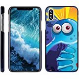 Compatible for Apple iPhone X Case   Apple iPhone 10 Case [Slim Duo] Hard Shell Clip On Case Cover with Blue Edges Sea Ocean Design by TurtleArmor - Cute Blue Creature