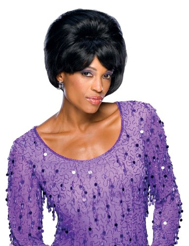 Rubie's Costume Dreamgirls Leader Adult Wig, Black, One Size - 60s Singer Adult Costumes
