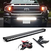 """iJDMTOY 30"""" 150W High Power CREE LED Light Bar with Hidden Lower Bumper Mounting Bracket For 2014-up Toyota Tundra (No Cutting Required)"""