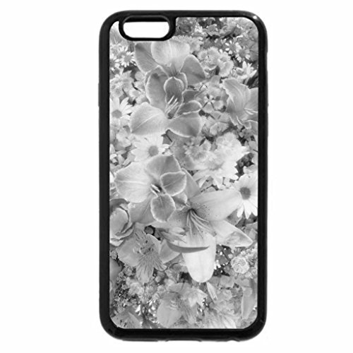 iPhone 6S Case, iPhone 6 Case (Black & White) - WORLD OF FLOWERS