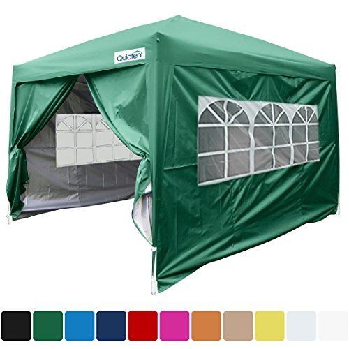 Quictent Silvox 10x10 EZ Pop Up Party Tent Canopy Gazebo 4 Walls W/ Free Carry Bag 100% Waterproof-7 Colors (W)