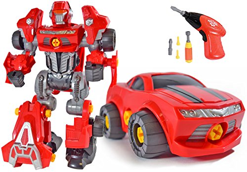 CoolToys Custom 3 in 1 Take-A-Part Robot Toy Playset - Includes Electric Play Drill, Screwdriver and - coolthings.us