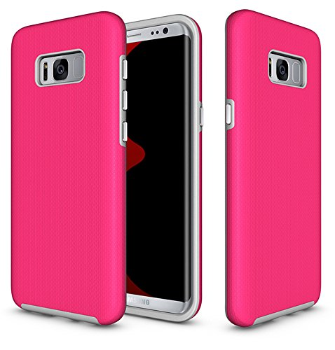 Price comparison product image Galaxy S8 Plus Cases - GreenElec [Perfect Fit] [Slim Fit] [Shock Absorption] [Scratch Proof] - Heavy Duty Dual Layer Armor Defender Protective PC Cover Case for Samsung Galaxy S8 Plus S8+,  Rose