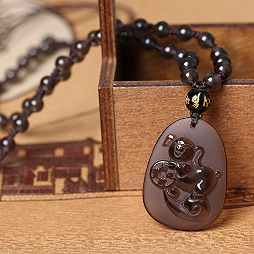 Natural Ice Kinds Of Obsidian Pendant Lucky pig mascot