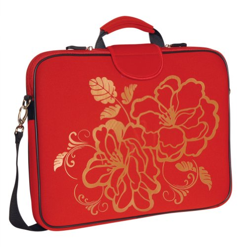 laurex-17-inch-laptop-sleeve-case-bag-with-handle-and-shoulder-strap-red-camellia