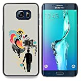 hars camera case - Queen Pattern - FOR Samsung Galaxy S6 Edge Plus - Collage Art Gentlemen Film Camera - Impact Case Cover with Art Pattern Designs