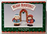 Hallmark Merry Miniatures Bashful Mistletoe 3pc Set