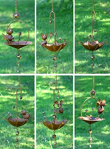 - Zaer Ltd. Hanging Umbrella Bird-Feeder Decorations (Set of All 6)