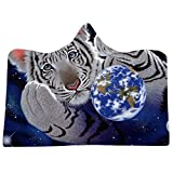 2019 Soft Hoodie Blanket Adult Men Women,Cosmic Planet Series Plush Hooded Blanket Lichens Hooded Blanket 150x200cm for Home/Office/Travel/Car by Aimik (E)