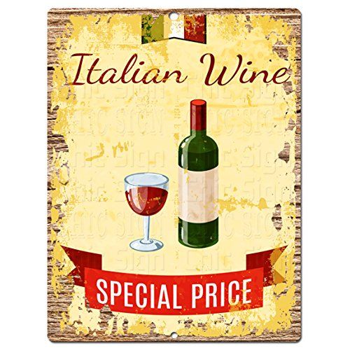 Italian Wine Chic Sign Rustic Shabby Vintage style Retro