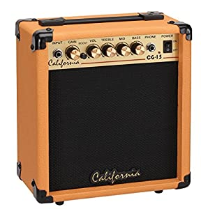 california electric guitar amp 15 watts orange cg 15 or musical instruments. Black Bedroom Furniture Sets. Home Design Ideas