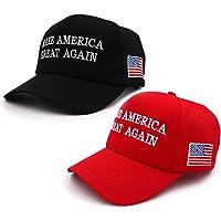 Make America Great Again Hat,Keep America Great Hat, Donald Trump 2020 MAGA Hat Baseball Cap with USA Flag 2 Pack
