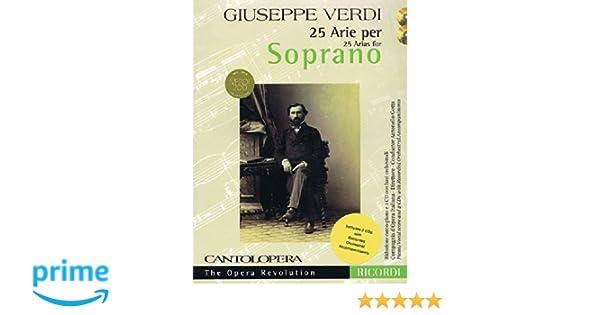 25 Arias for Soprano Verdi Cantolopera Collection