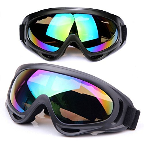 Motorcycle Goggles Astarye Universal Adjustable UV Protective Safety Sports Outdoor Glasses Wind Dust Protection Skiing & Tactical Glasses Military Sunglasses to Prevent - For Wind Sunglasses Protection