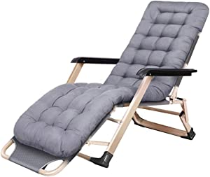 YVX Reclining Garden Chair | Folding Beach Chair with headrest | Adjustable Garden Chairs for The Outdoor Terrace by The Pool