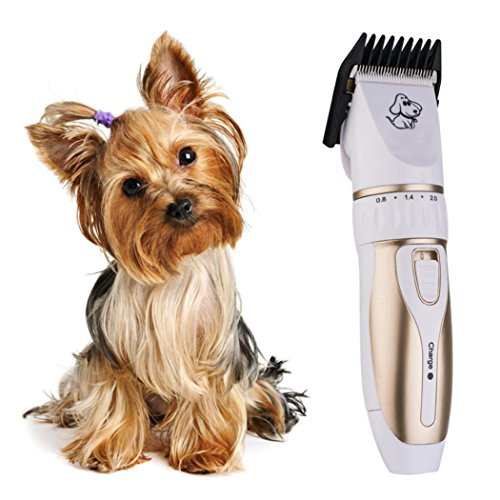 Dog Clippers, SANNYSIS Pet Cat Hair Trimmer Professional Beauty Grooming Cutting Shaving 6.77x1.73x1.34 ()