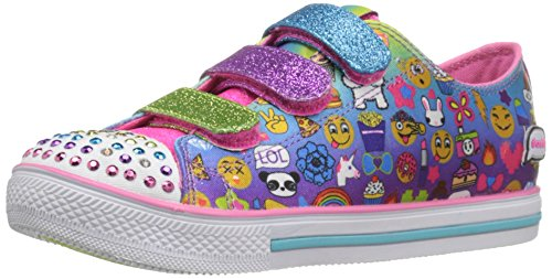 Skechers Kids Girls' Chit Chat-Simply Silly Sneaker, Emoji Multi, 2.5 M US Little Kid