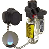 Blazer PB207CR The Torch Wide Flame Butane Refillable Lighter, Clear