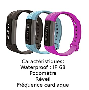 Trackers dactivité smart bracelet connecté, Montre connecté Cardio, GPS, multisport (