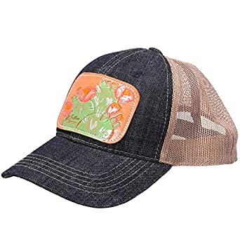 486df5f5cde McIntire Saddlery Mens Cap w Painted Cactus Leather Patch OS Multi ...