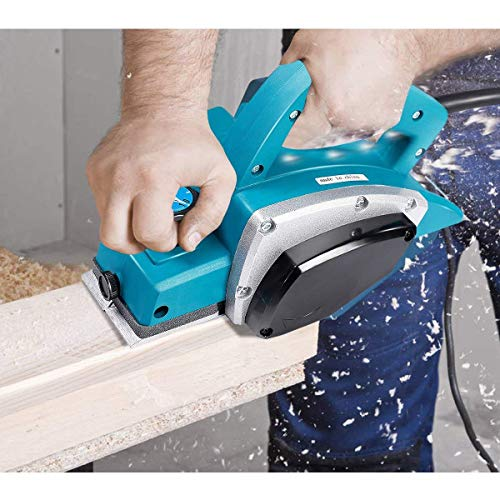 Goplus Powerful Electric Wood Planer Door Plane Hand Held 3-1/4-Inch Woodworking Surface New