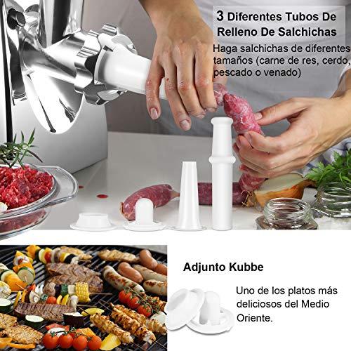 Nestling® Picadora de Carne Eléctrica y Embutidora de Salchichas ...