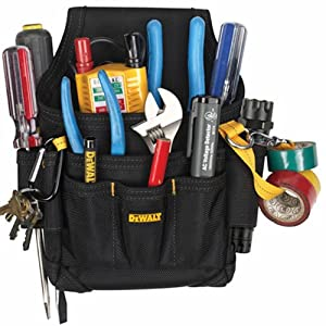 2. DEWALT DG5103 Small Durable Maintenance and Electrician's Pouch with Pockets for Tools