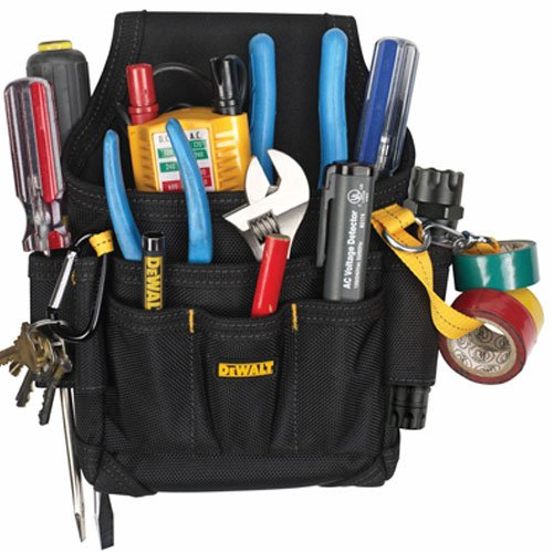DEWALT DG5103 Small Durable Maintenance and Electrician's Pouch with Pockets for Tools, Flashlight, ()