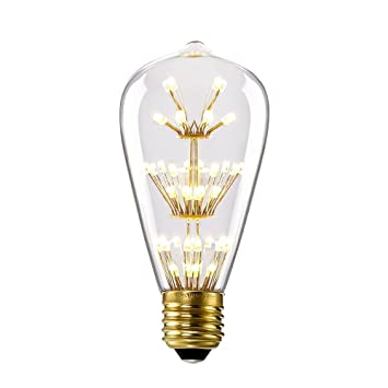Kiven 3w Led Decorative Vintage Edison Bulbs Antique Style E26 110v Light Bulb Prefer For Indoor