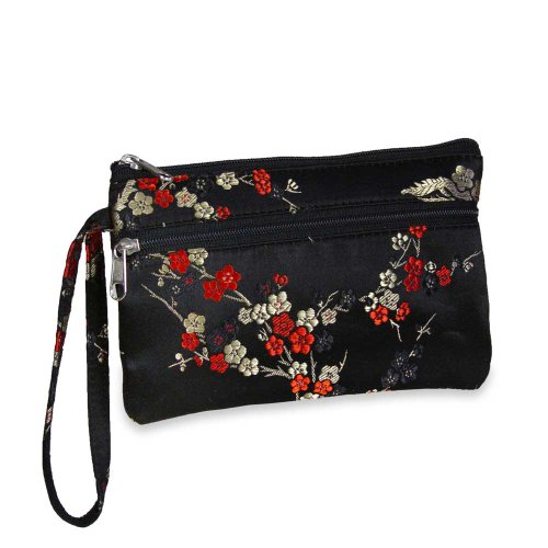 Essentials Wristlet – Silk Brocade (Chinois Cherry Blsm), Bags Central