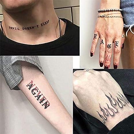 FACAILE Juego De Pegatinas De Tatuaje Impermeables For Hombres Y ...