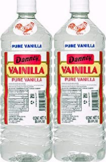 2 X Danncy Clear Pure Mexican Vanilla Extract From Mexico 33oz Each 2 Plastic Bottle Lot