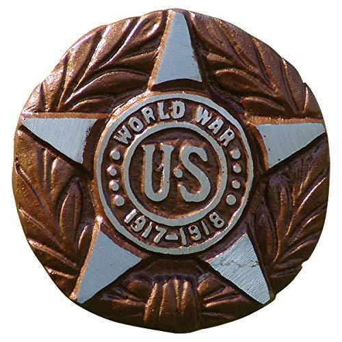 Frank Detwiler WWI Veteran Grave Marker, Bronze Finished Aluminum