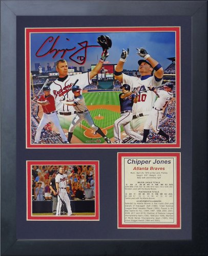 "Legends Never Die ""Chipper Jones Framed Photo Collage, 11 x 14-Inch"